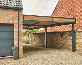 Carport Mouscron bois